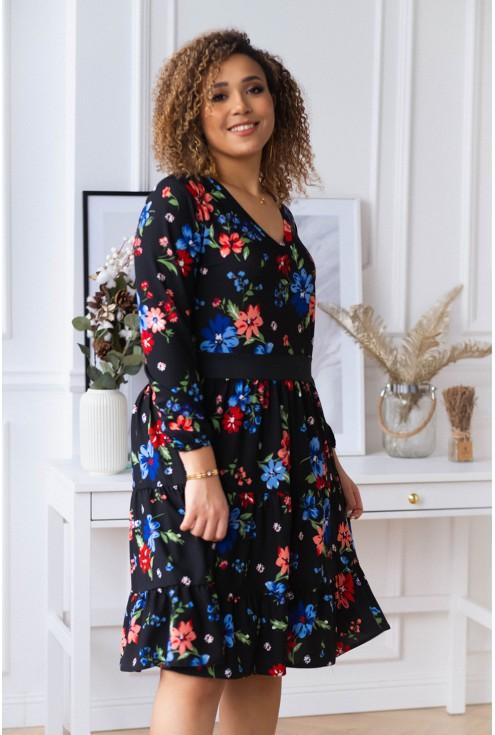 sukienka plus size wzór kwiatowy