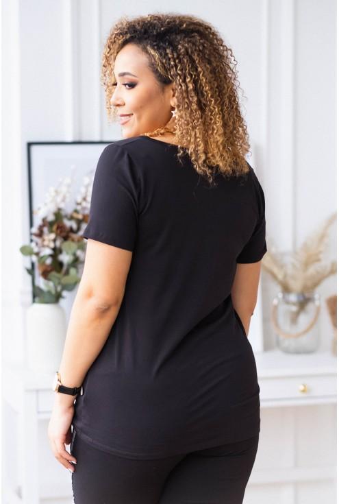 czarna bluzka plus size