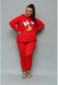 czerwony bajkowy dres z kapturem xxl duże rozmiary