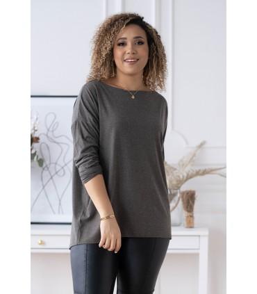 Khaki bluzka (cieplejszy materiał) Basic La Max
