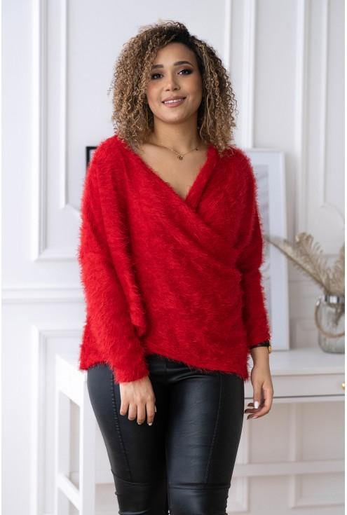 modny miły w dotyku sweter
