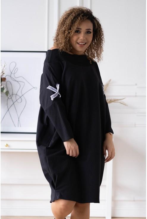 czarna sukienka oversize EYE