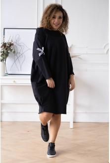 czarna sukienka plus size EYE