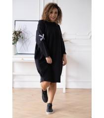 Czarna sukienka z krzyżykami - Eye