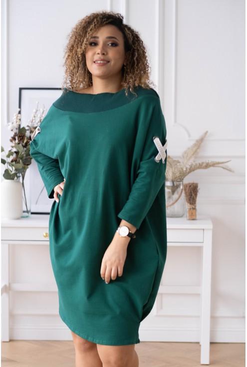 butelkowa sukienka hiszpanka plus size