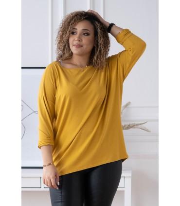 Musztardowa bluzka (cieplejszy materiał) Basic La Max