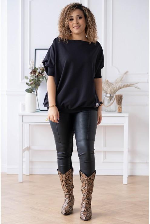 czarna bluza oversize WEEKEND