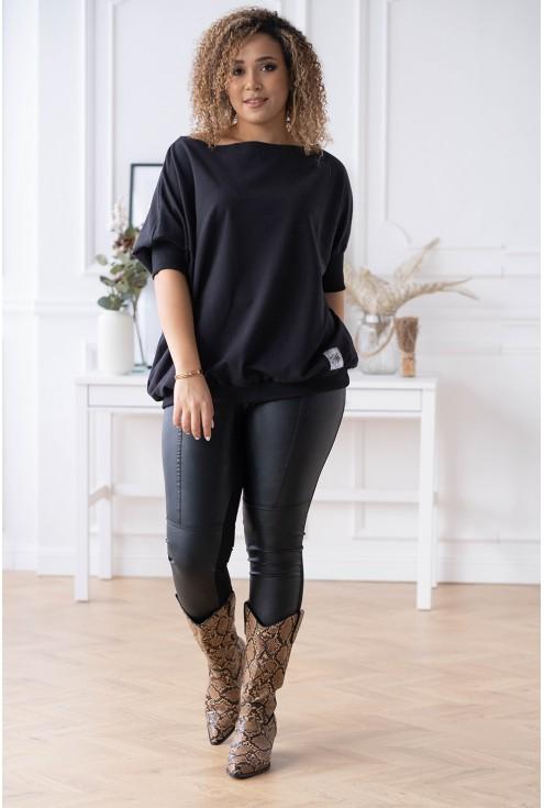 czarna uniwersalna bluza xxl