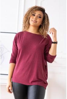 Bordowa bluzka ciepły materiał
