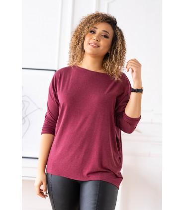 Bordowa bluzka (cieplejszy materiał) Basic La Max