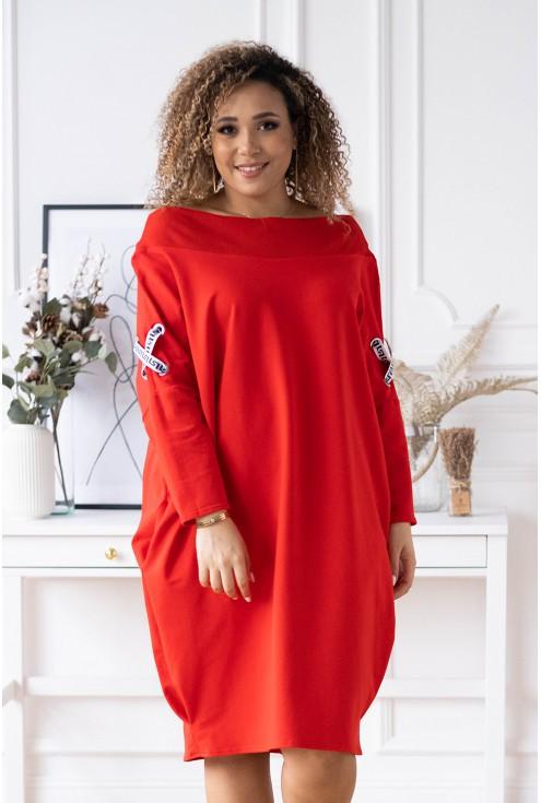 czerwona sukienka eye xxl