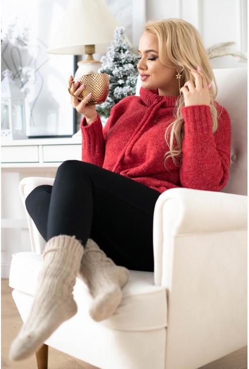 czerwony sweter xxl