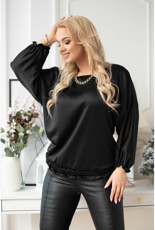 czarna bluzka nietoperz plus size