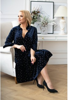 Granatowa aksamitna sukienka Silvia