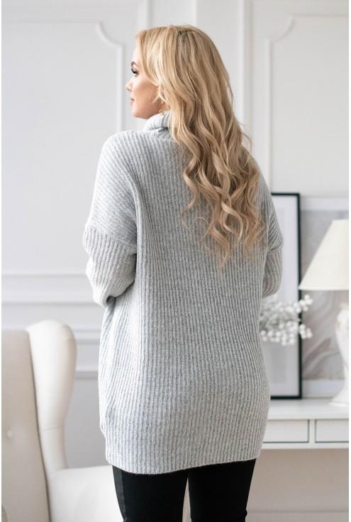 Tył szarego swetra-tuniki Ronnie