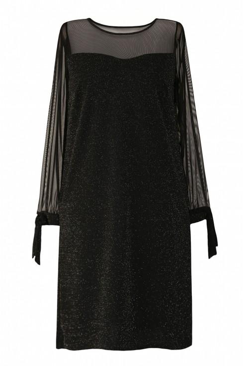 Czarna błyszcząca sukienka xxl