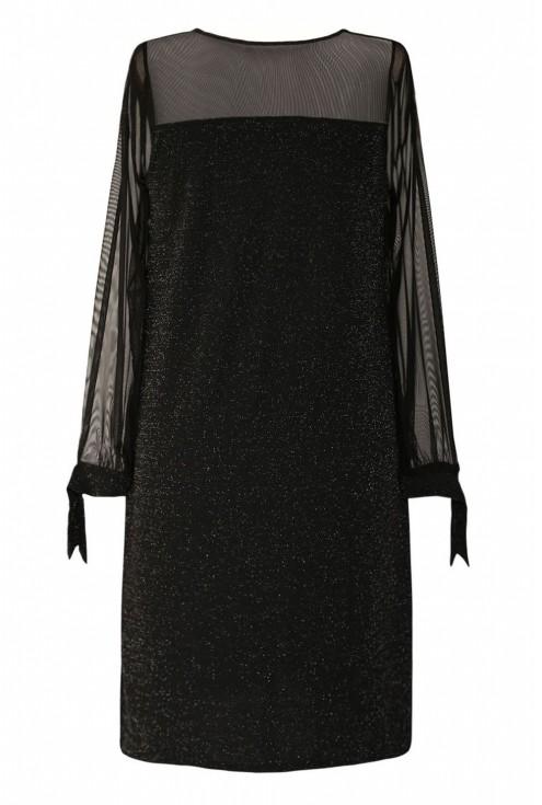 Sukienka z wiązaniem na rękawie xxl