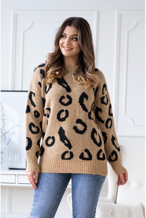 sweterek w cętki pantera sklep internetowy xlka