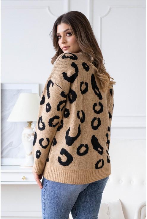 sweterek panterka xxl cętki