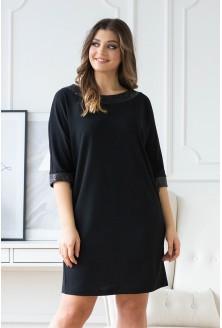 czarna sukienka z cekinami xxl