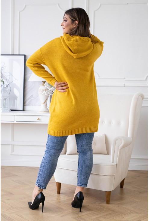 tył miodowego swetra plus size