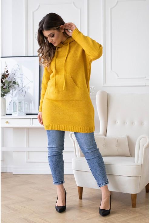 przód miodowego sweterka xxl