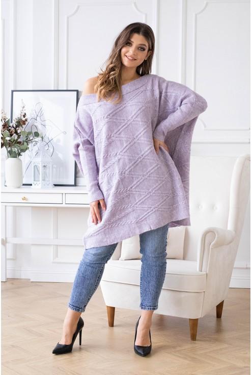 wygodny sweterek plus size dla kobiet