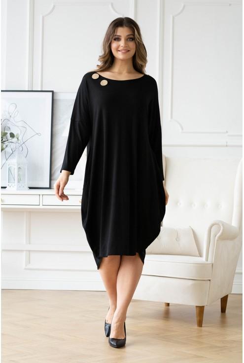 czarna sukienka w dużym rozmiarze dla kobiet w sklepie XL-ka.pl