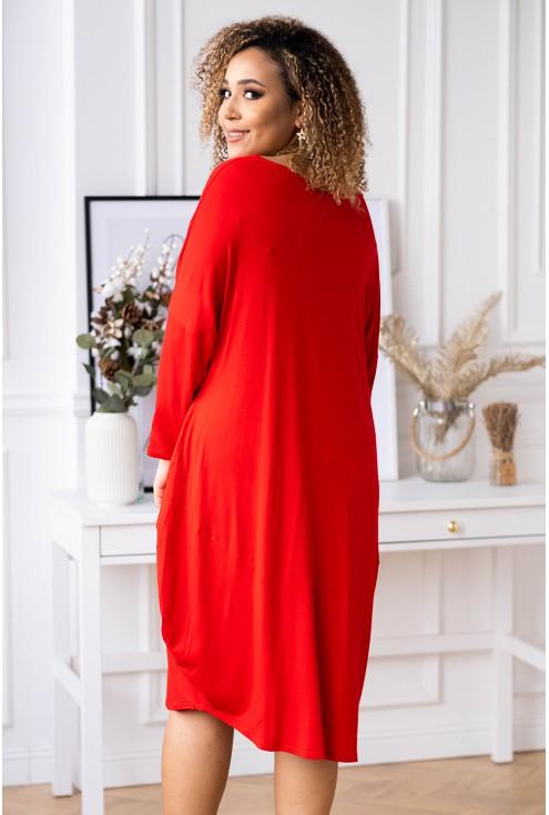 czerwona sukienka xxl Vogue