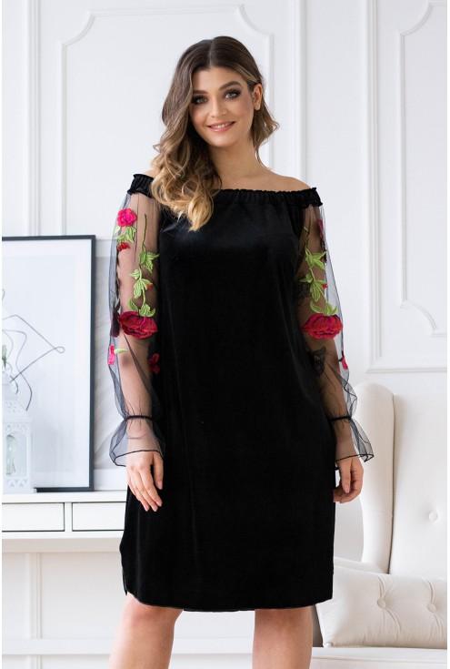 sukienka welurowa plus size mirella