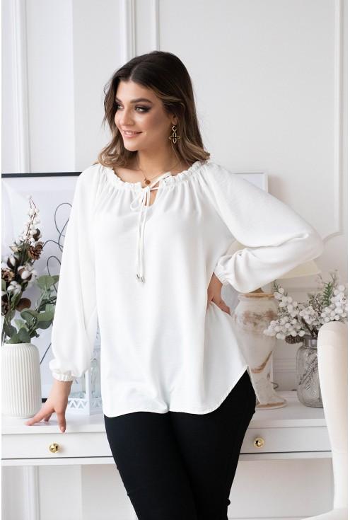 biała bluzka xxl