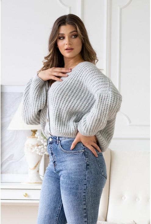 Szary sweterek Vittoria