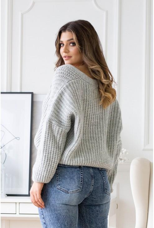 rozpinany sweterek z guzikami