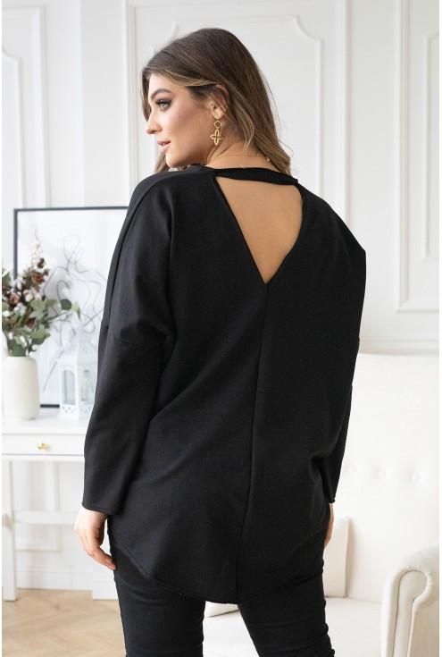 bluza z wycięciem na plecach