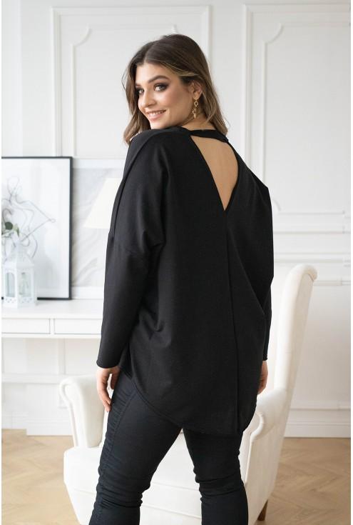 Czarna bluza z wycięciem