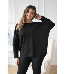 Czarna bluza z wycięciem na plecach - NASSI