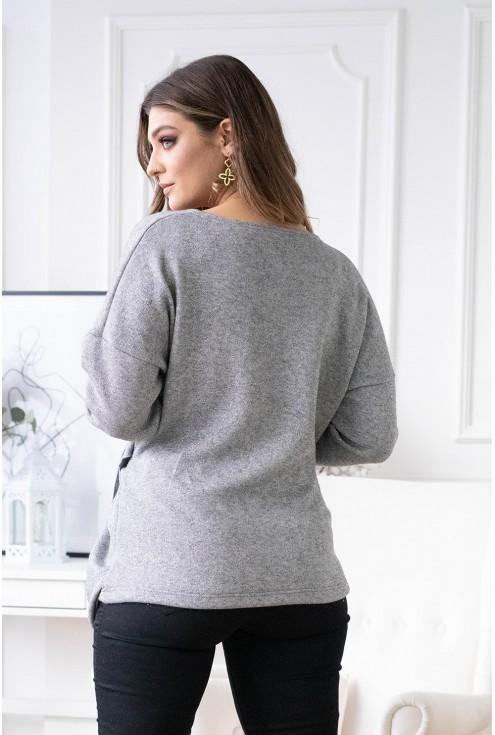 Tył swetra Keira w kolorze szarym