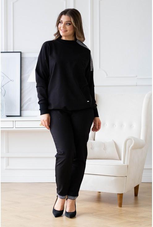 czarny zestaw Maddi bluza i spodnie