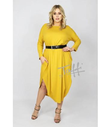 Cytrynowa sukienka - JAJKO Angora