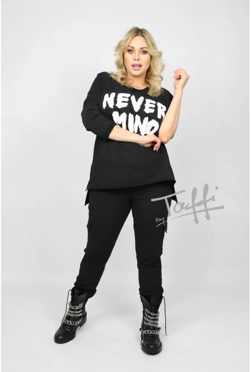Czarna bluza Never Mind