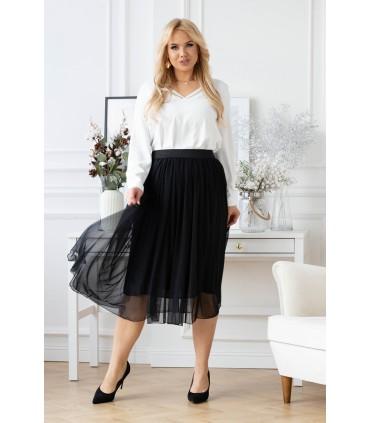 Czarna tiulowa spódnica z czarną gumką - HOLLY