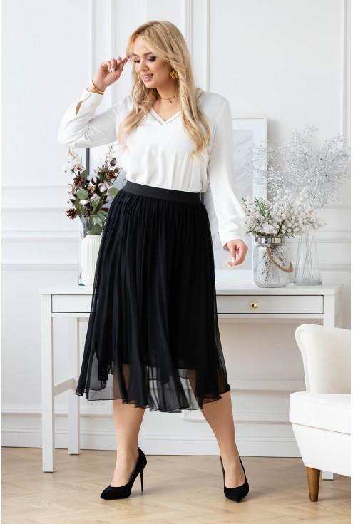 czarna tiulowa spódnica xxl