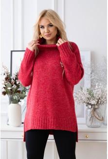 przód czerwonego sweterka plus size xxl