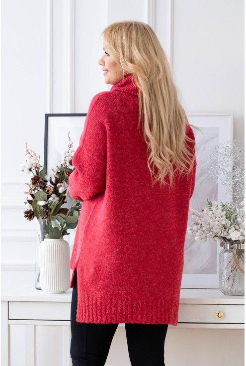 tył czerwonego sweterka xxl