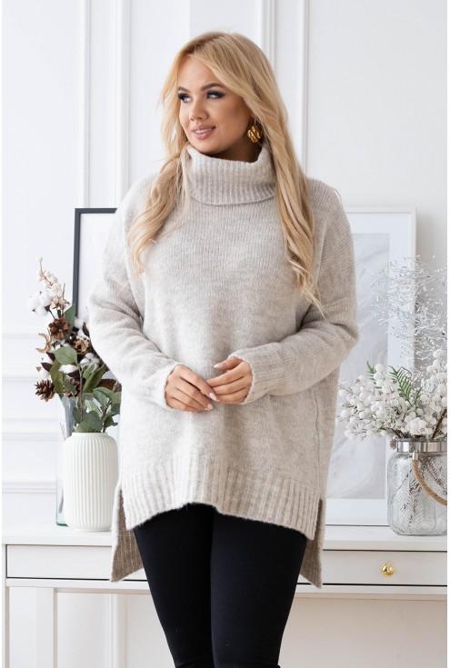 sweterek lesca kość słoniwa xxl