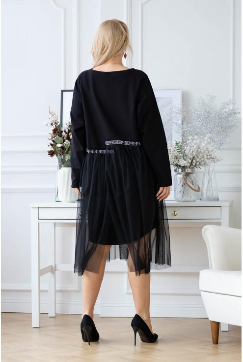 tył tiulowej sukienki flip