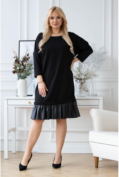 Sukienka w dużych rozmiarach czarna