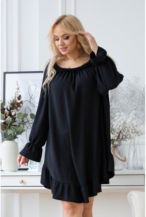 Czarna sukienka hiszpanka Renel