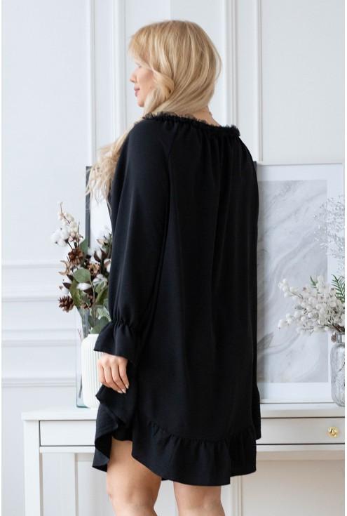 czarna sukienka Renel w dużych rozmiarach