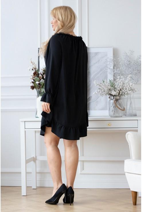 Sukienka z falbanką Renel xxl